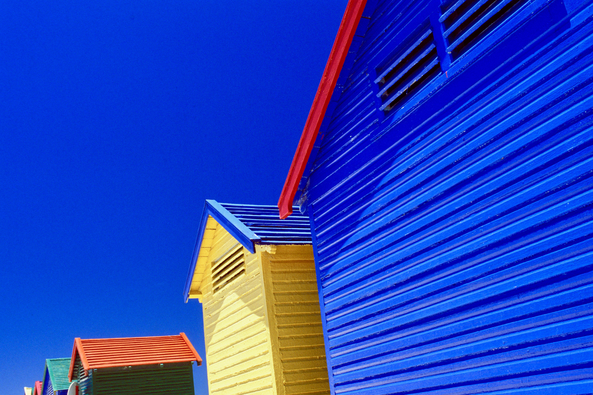 beach cabins  muizenberg / south africa
