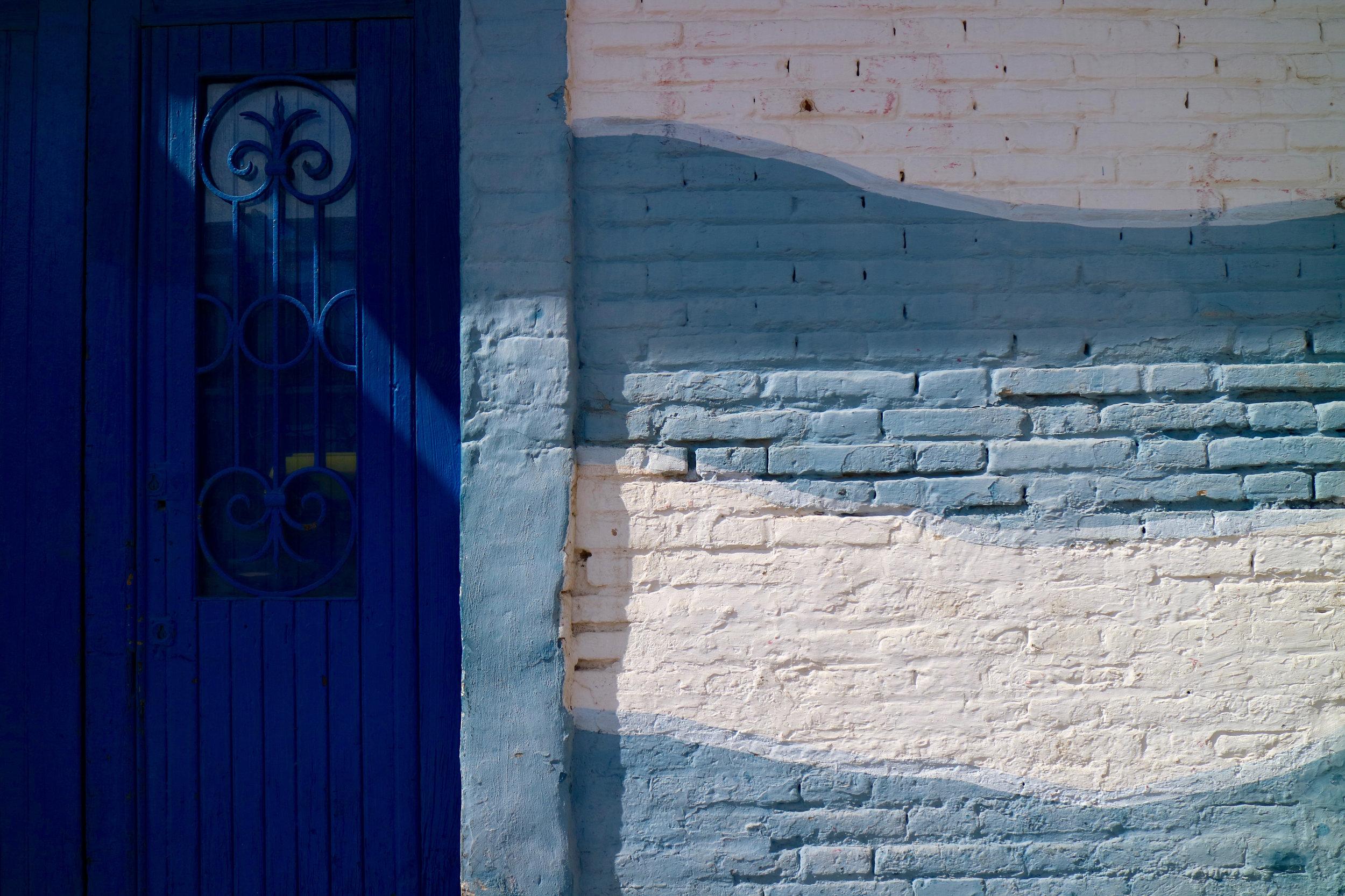 puerta y onda azul  valència / comunidad valencia