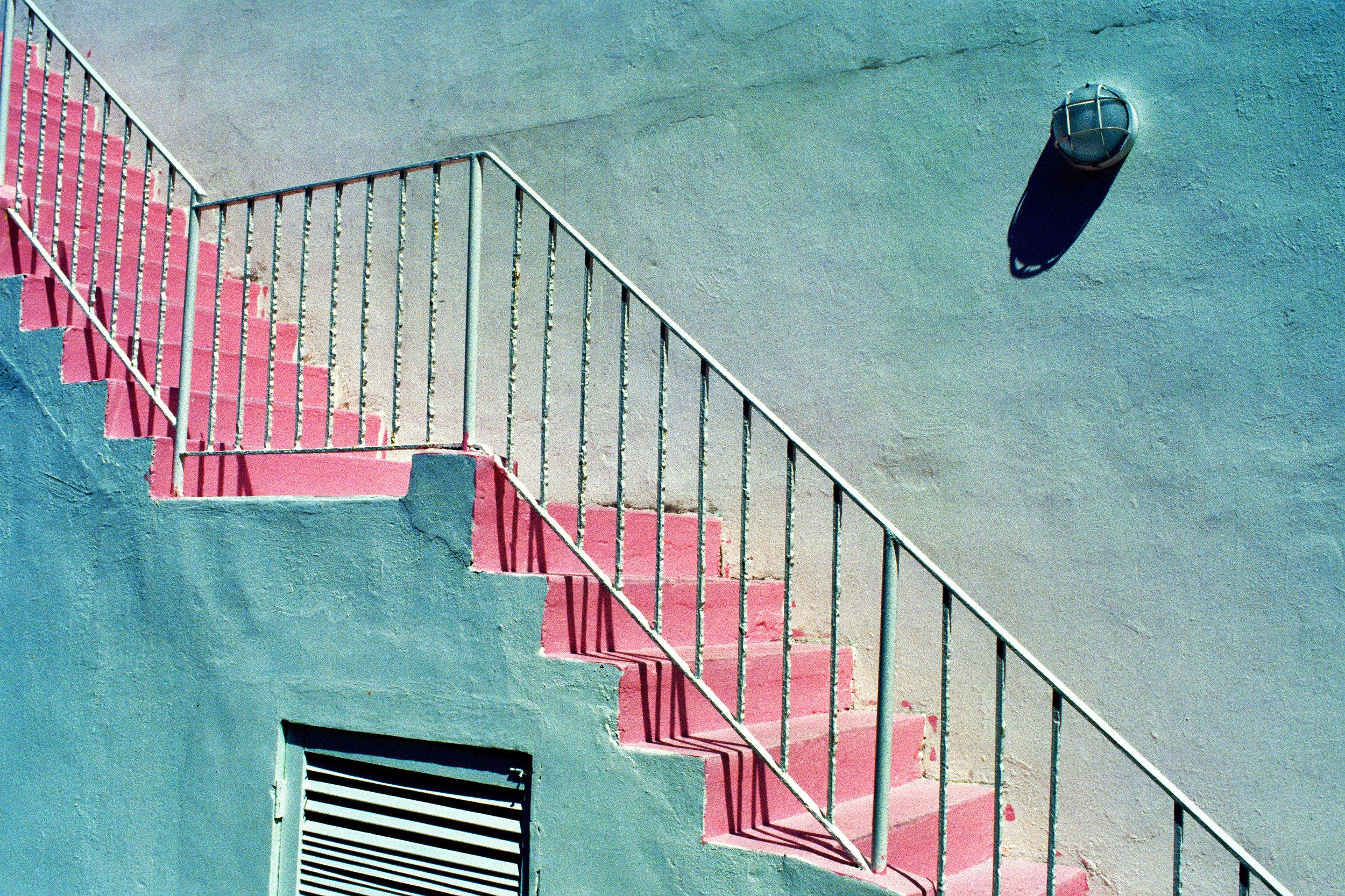 miami beach stairway  miami beach / florida
