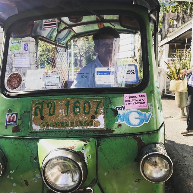 The Saga Continues..🍦 . . . . #icecream #ideas #stickerbomb #bangkok #tuktuk #wuinspired