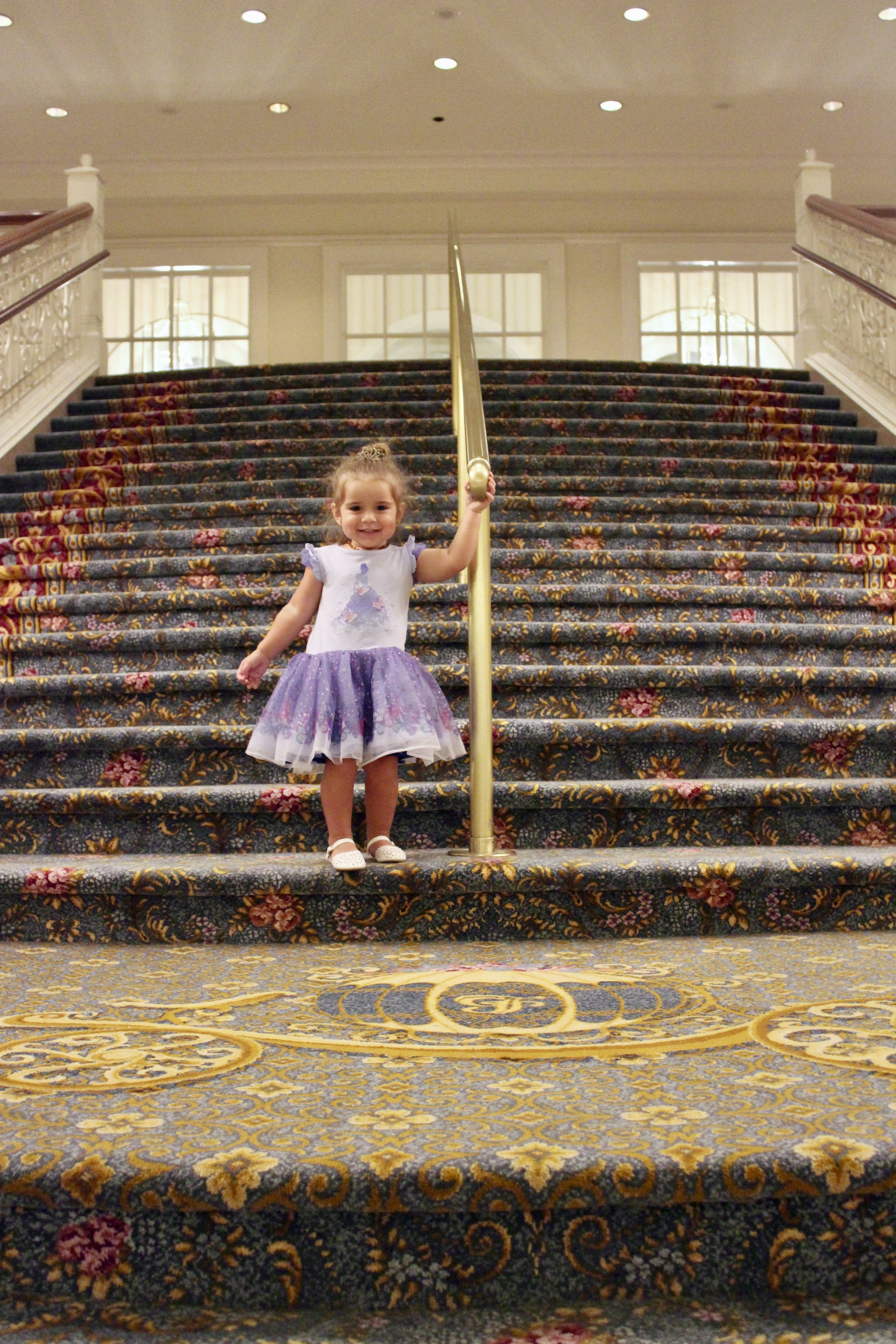 Little miss was putting on a dance show on that flat area to the music playing throughout the hotel.