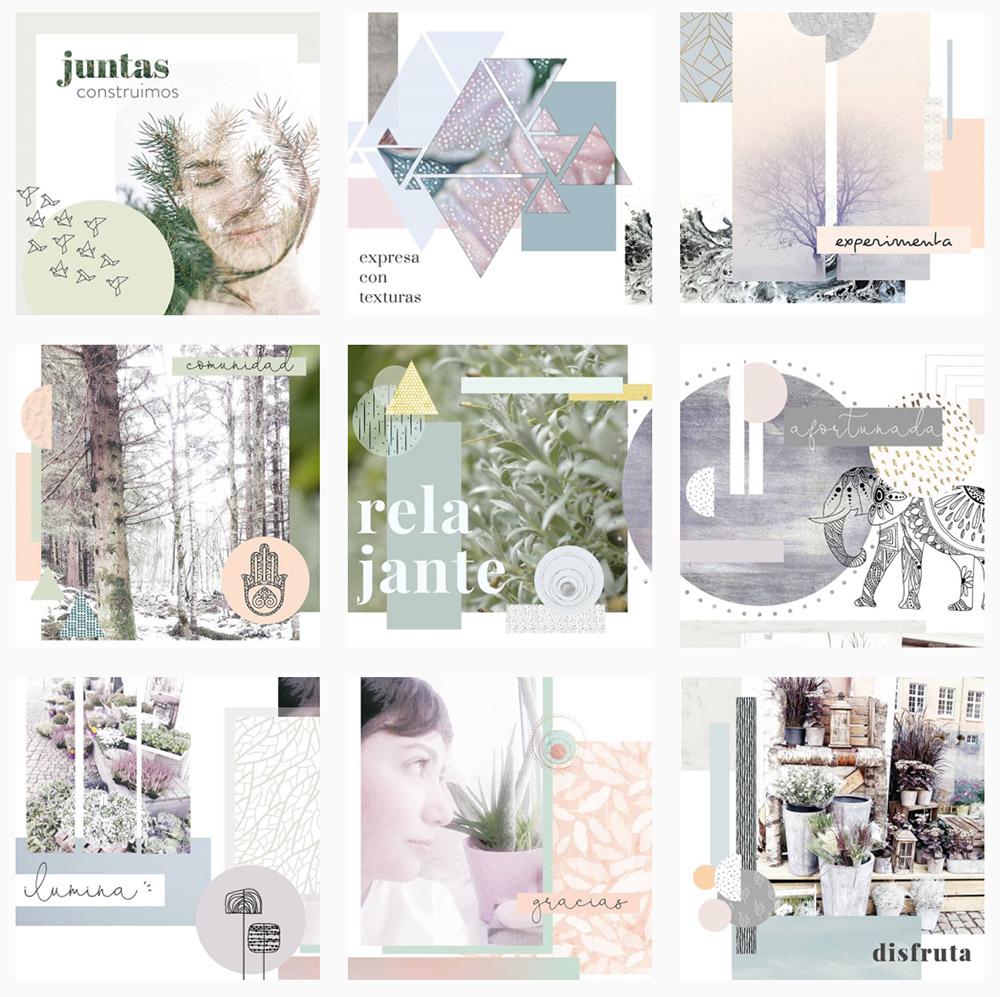 Myri, de  Visualnordic , edita sus imágenes para hacer montajes de fotografías, ilustraciones y textos.