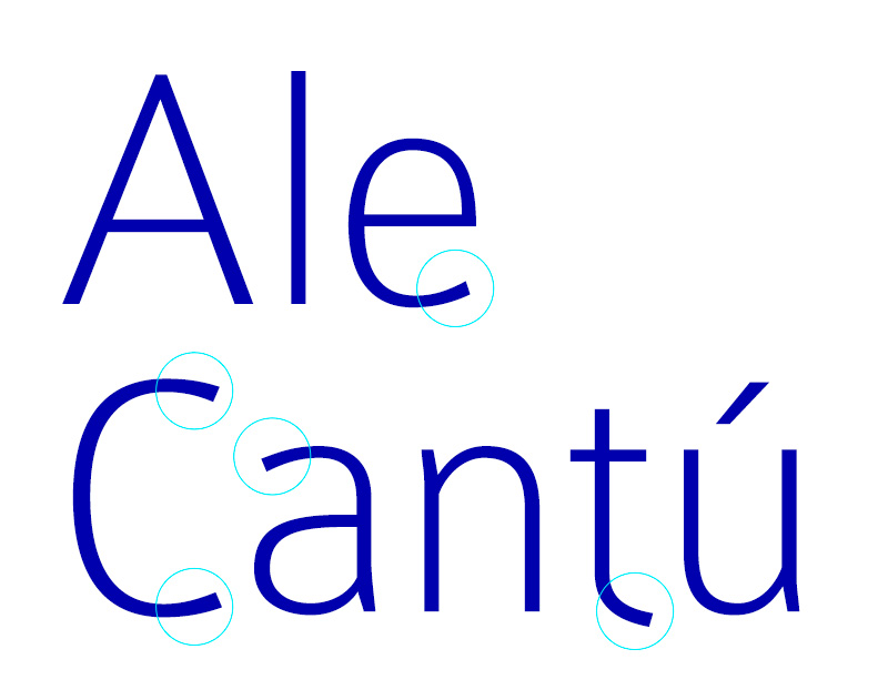 Texto con la tipografía tal cual, sin ajustes