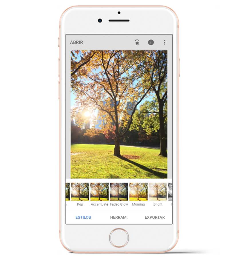 Snapseed es una de las mejores aplicaciones para editar fotos con el celular.
