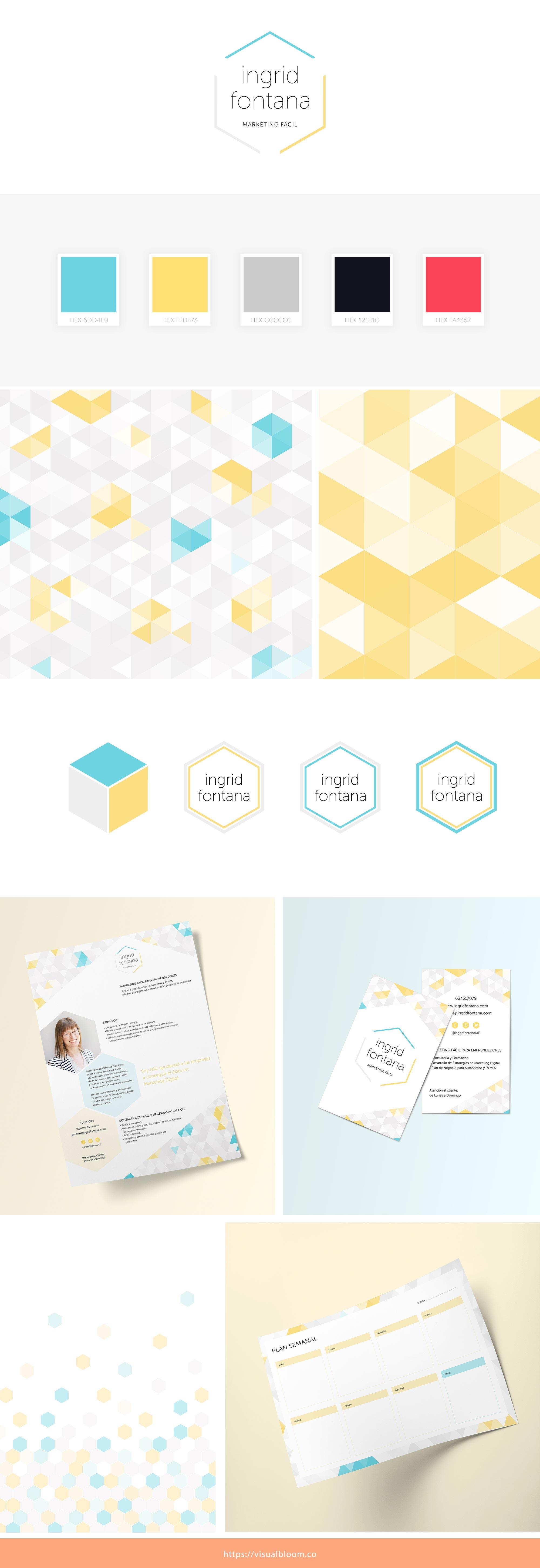 Diseño de identidad visual para Ingrid Fontana, marketing manager en España.