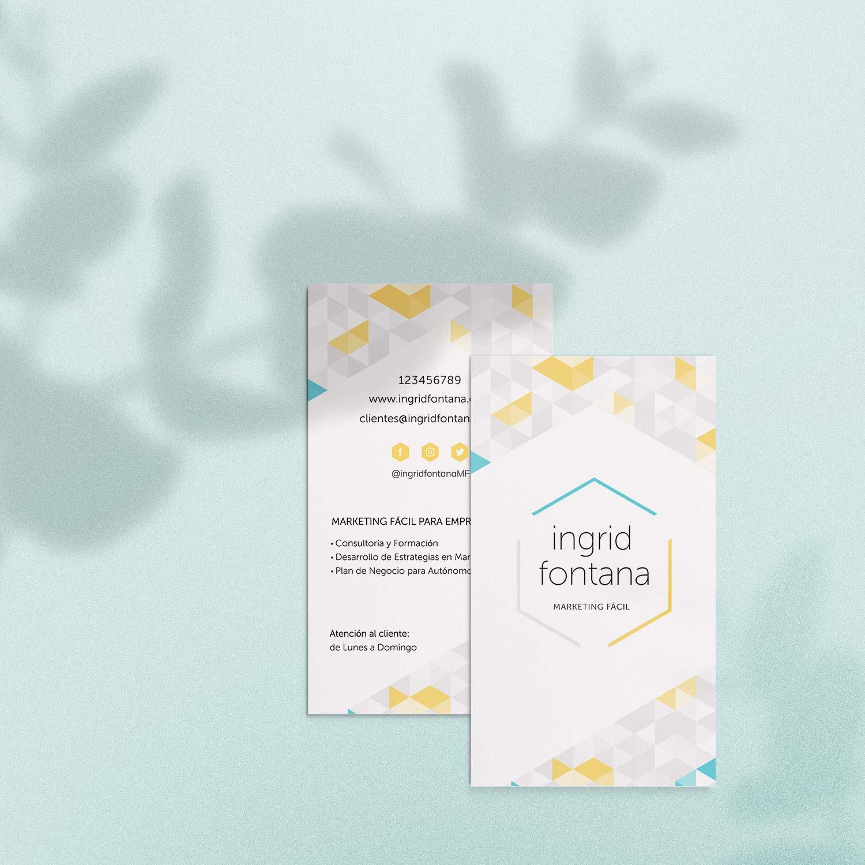 Diseño de identidad visual para Ingrid Fontana.