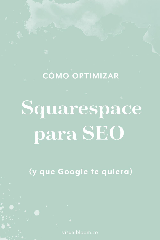 Si tú también tienes un blog, o un sitio web en general, sabes lo importante que es tenerlo optimizado para SEO. La buena noticia, es que Squarespace tiene de todo lo que puedas necesitar para enamorar a Google, y sin necesidad de instalar nada extra. #Squarespace #SitioWeb #Blogger #NegocioOnline #SEO #SquarespaceEnEspañol