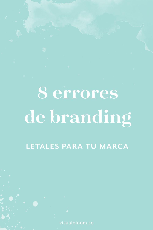 Aunque muchas emprendedoras saben que el branding es vital para desarrollar su negocio, veo con mucha frecuencia errores fatales... ¿los cometes tú también? #Branding #emprendimiento #bloguera #NegociosOnline