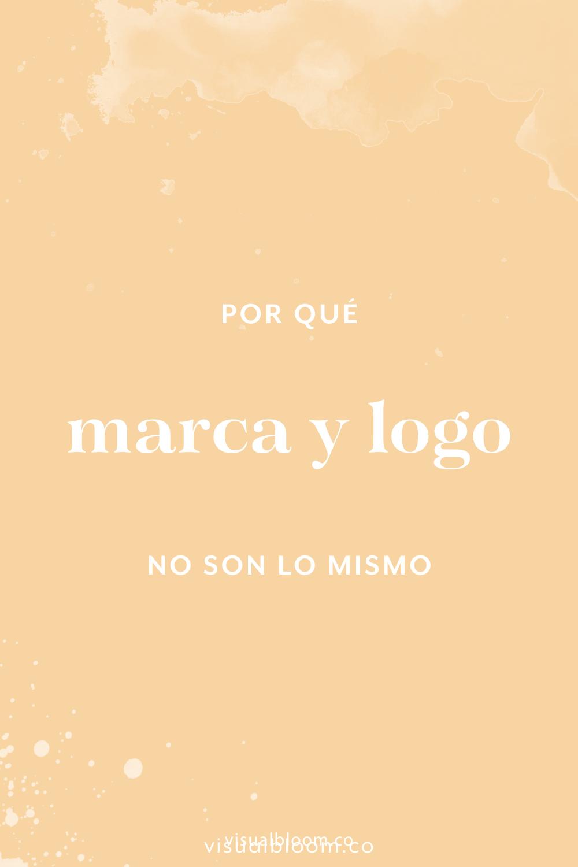#Marca y #logo... se han usado tantas veces como si fueran lo mismo que pareciera que lo son. Pero no. Y en este post, te explico las diferencias. #branding #diseño #emprendimiento