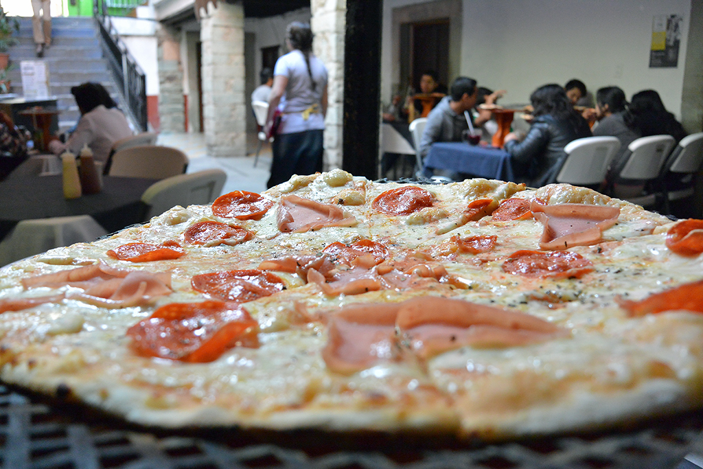 Pizza in Guanjuato, Mexico