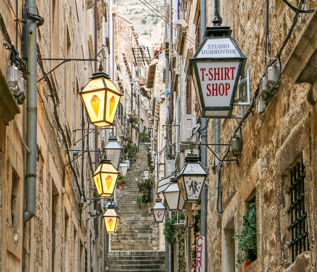Streets of Dubrovnik, Croatia in the Winter