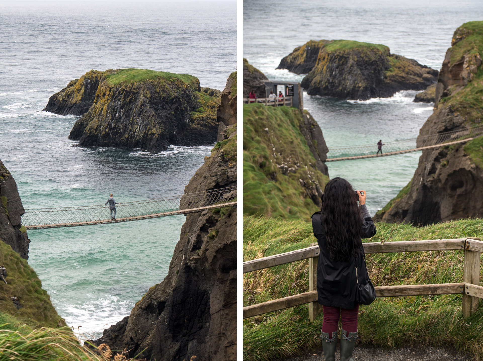 Rope Bridge in Northern Ireland