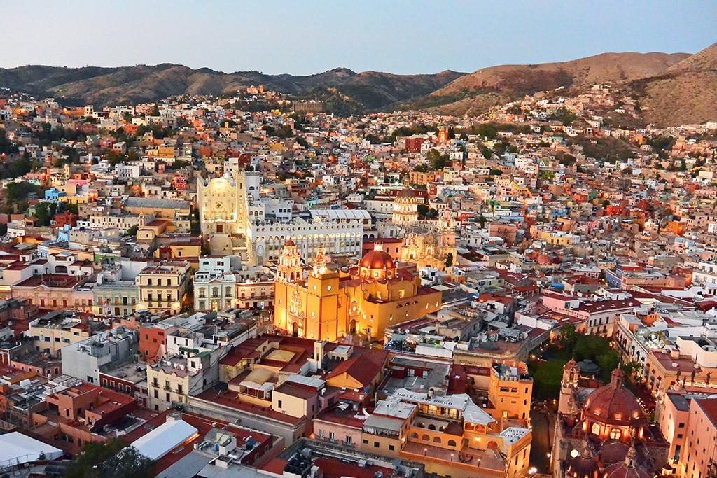 Sunset in Guanajuato, Mexico