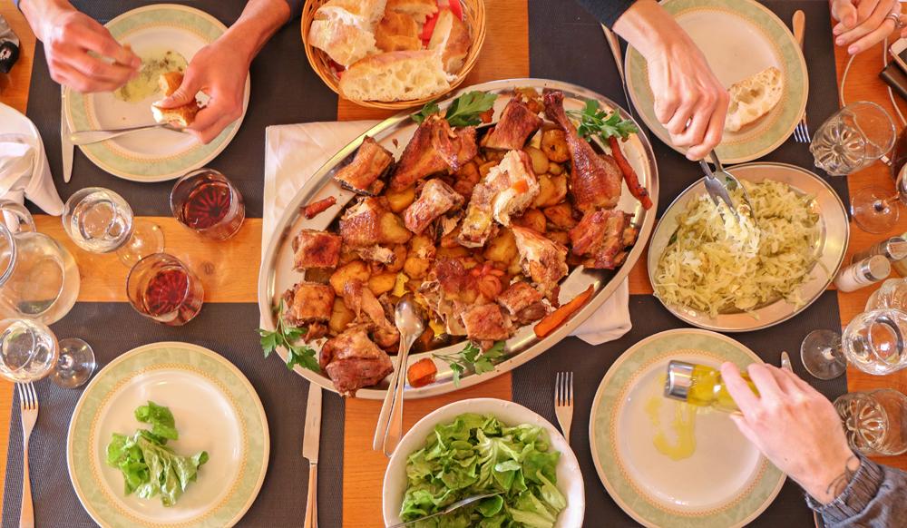 Traditional Croatian Peka Meal