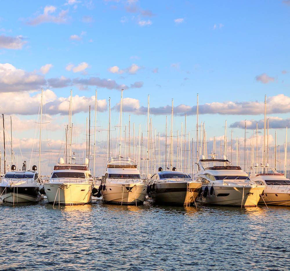 Winter in Split, Croatia - Sail boats