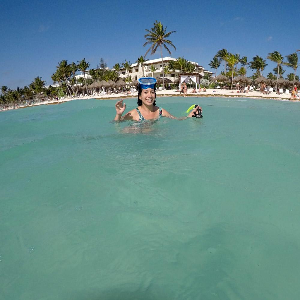 Snorkelling with Sea Turtles, Akumal Mexico