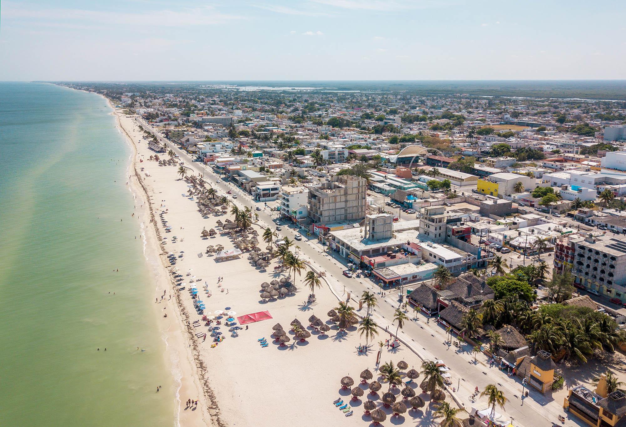 Day trips from Merida to Progreso Yucatan Mexico