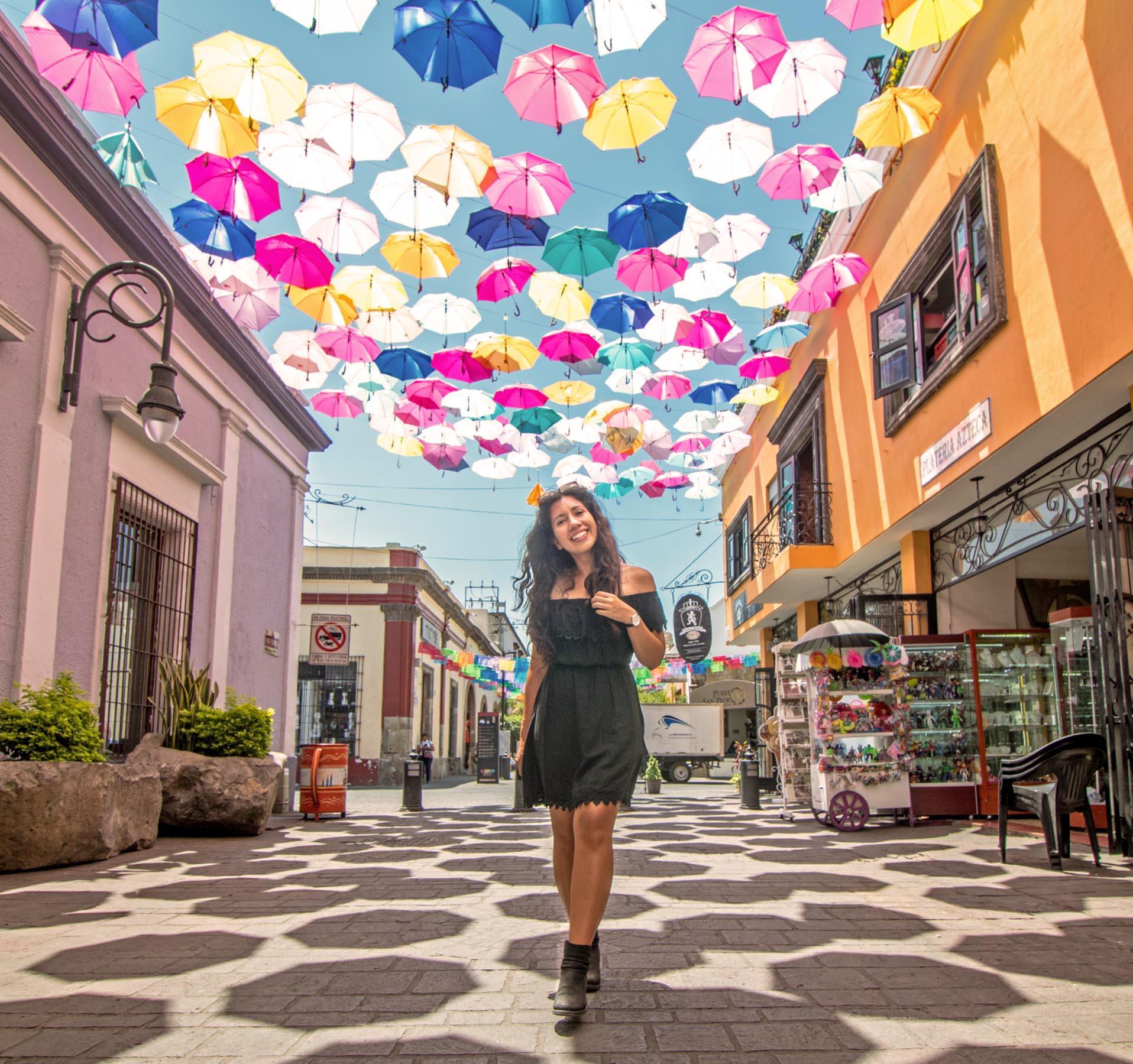 Umbrellas in Tlaquepaque, Jalisco