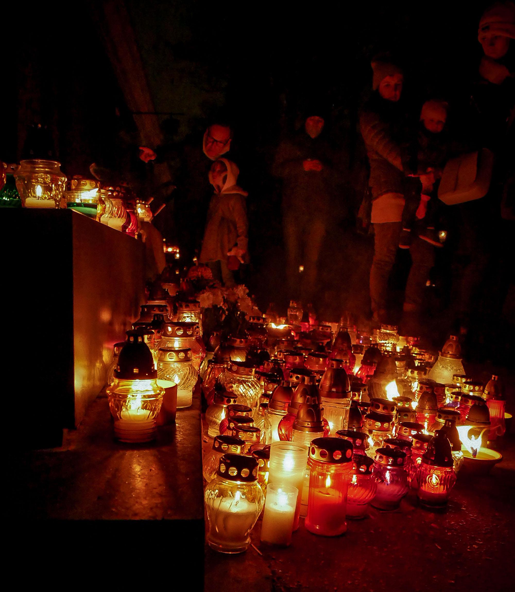 All Saints Day at Powazki Cemetery, Warsaw Poland