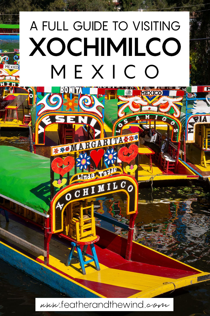 "Your full guide to visiting Xochimilco, Mexico: the ""Venice"" of Mexico. DIY your own day trip from Mexico City and spend the afternoon on a colourful trajinera with friends, cervezas and mariachi!  #mexicocity #xochimilco"
