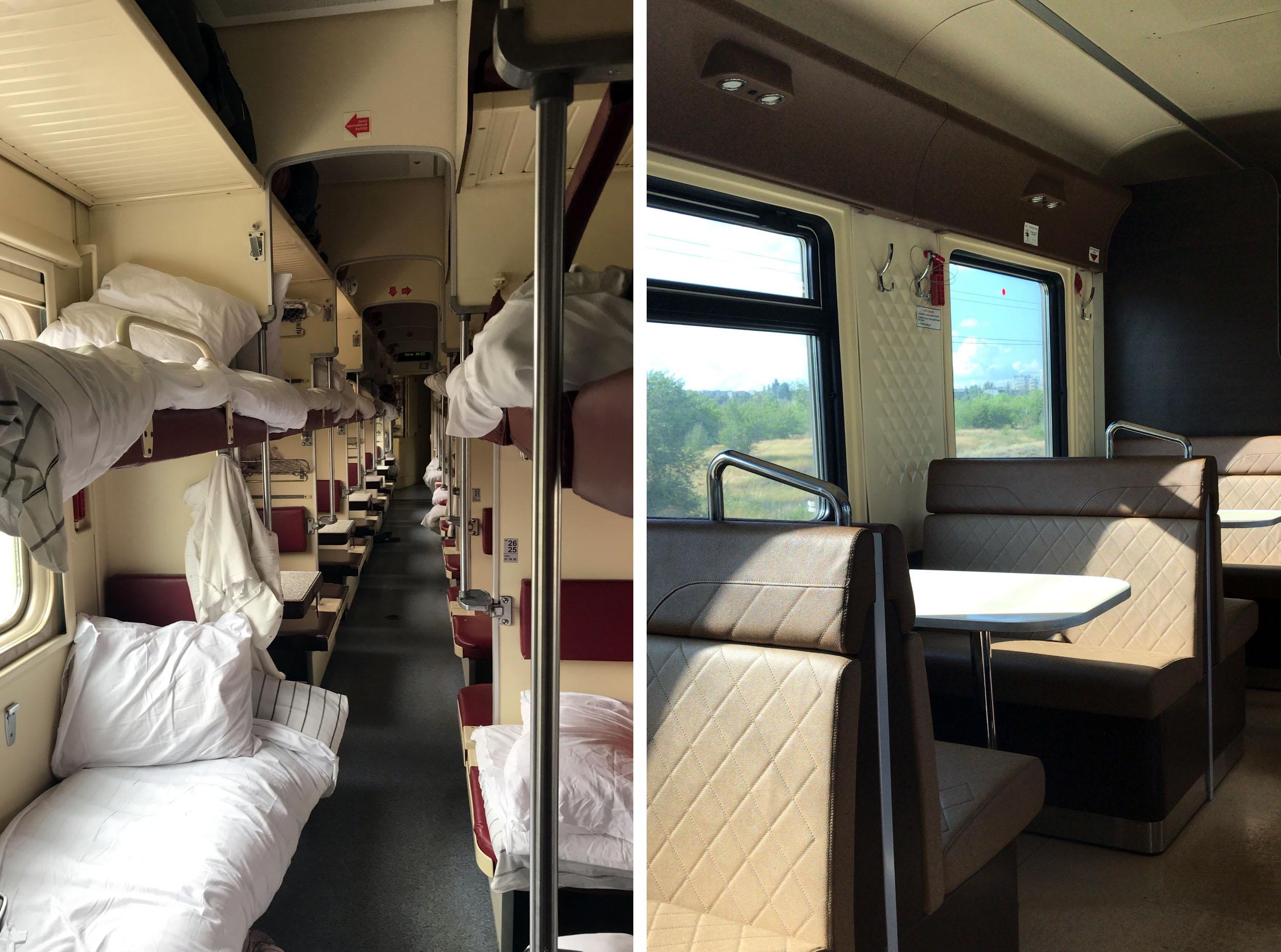 Third Class Sleeper Train in Russia