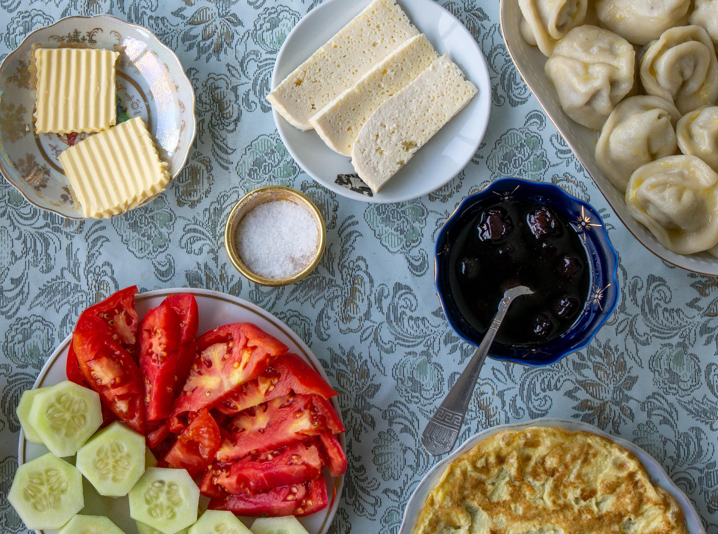 Traditional Georgian Guesthouse Breakfast