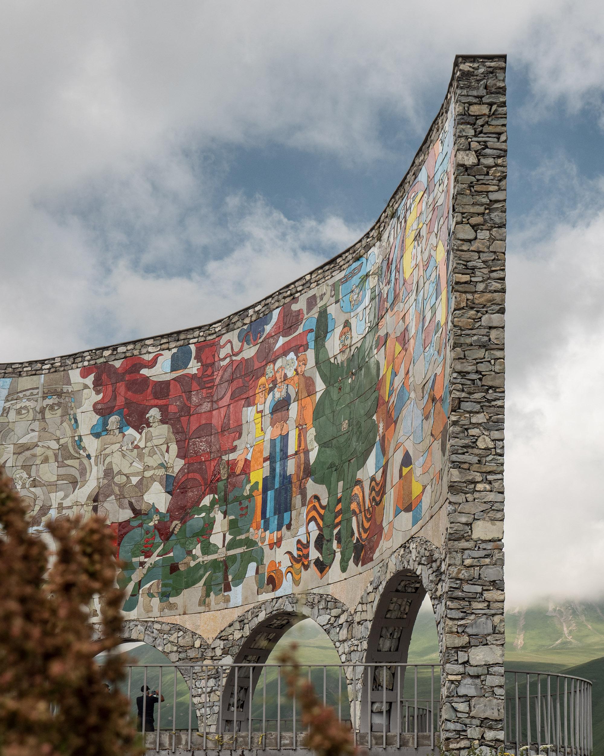 Russia Georgia Friendship Monument in Kazbegi, Georgia
