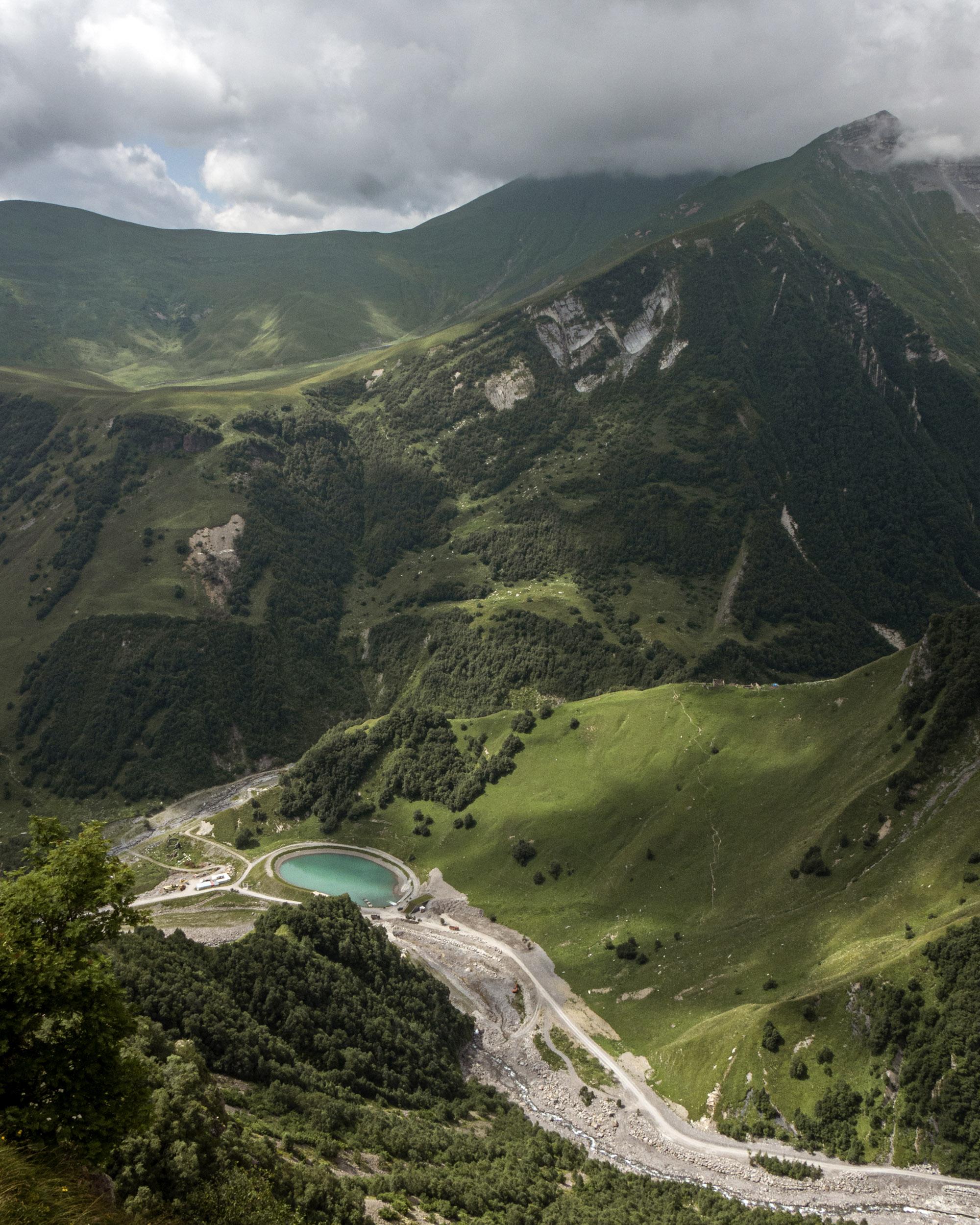 Caucasus Mountain Views in Kazbegi, Georgia