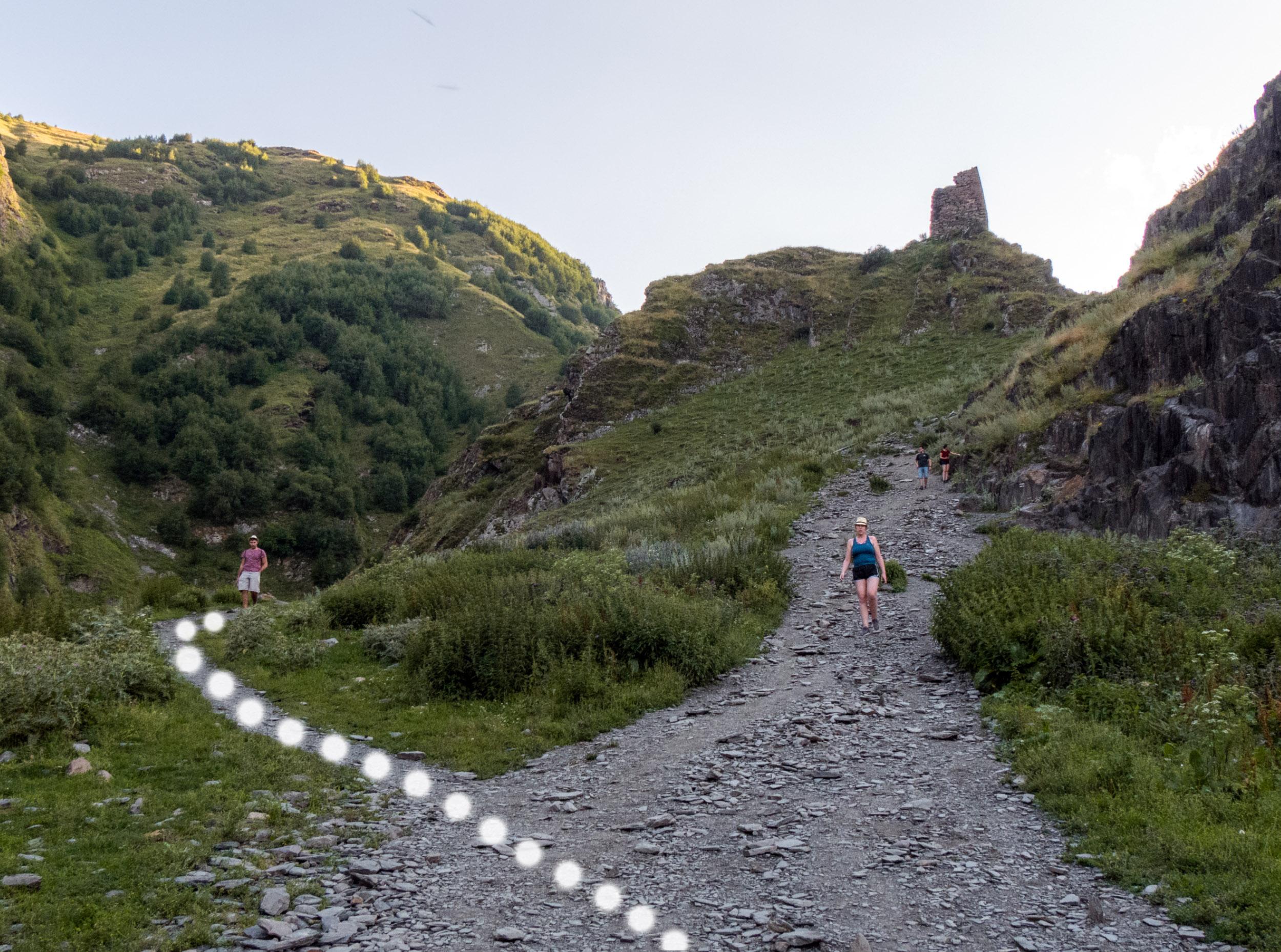 Gergeti Trinity Hike in Kazbegi, Georgia