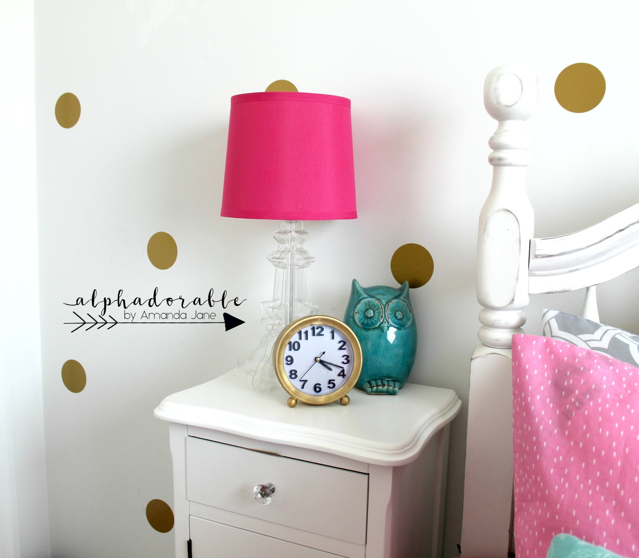 girls white side table