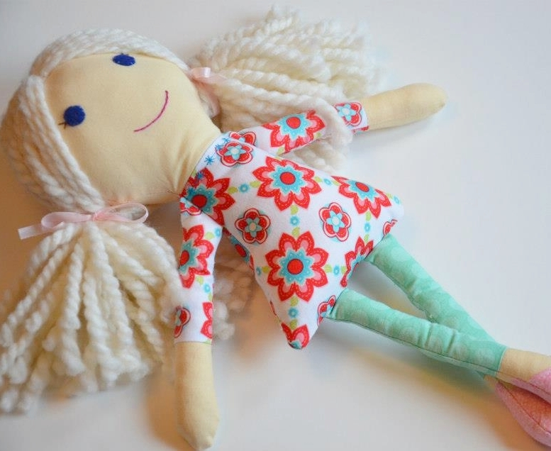 hand made rag doll by honeylime designs