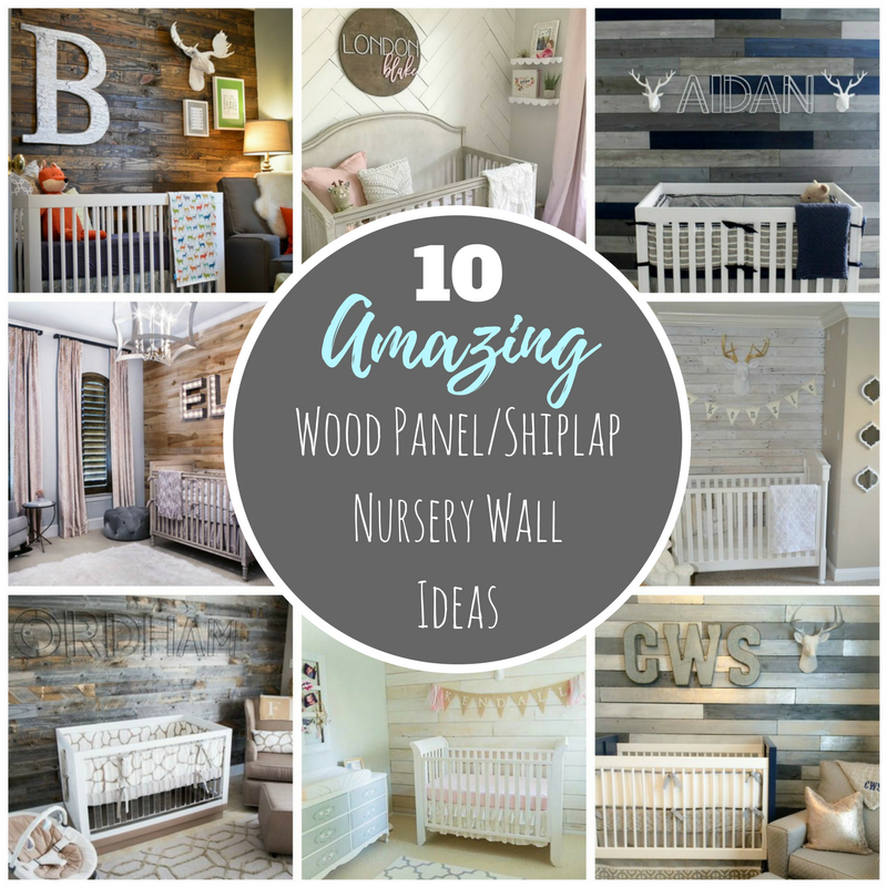 Wood panel nursery ideas