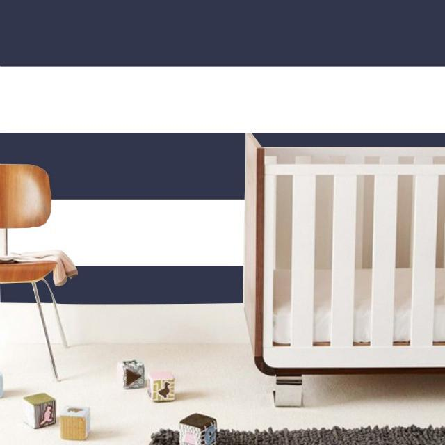 Navy striped wall