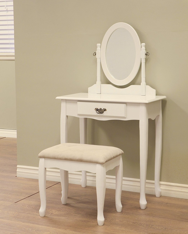 white makeup vanity