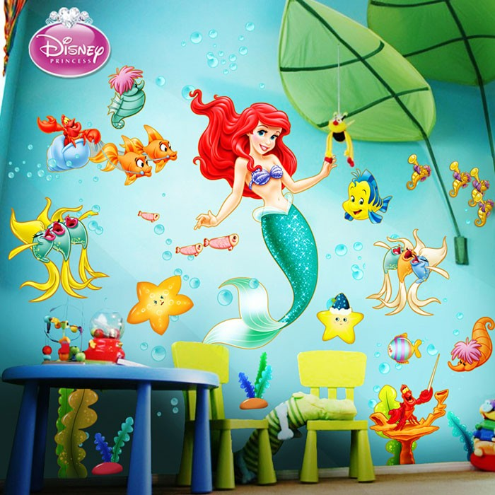 little mermaid wall decals
