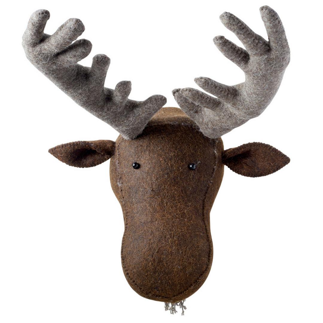 faux taxidermy moose head wall decor