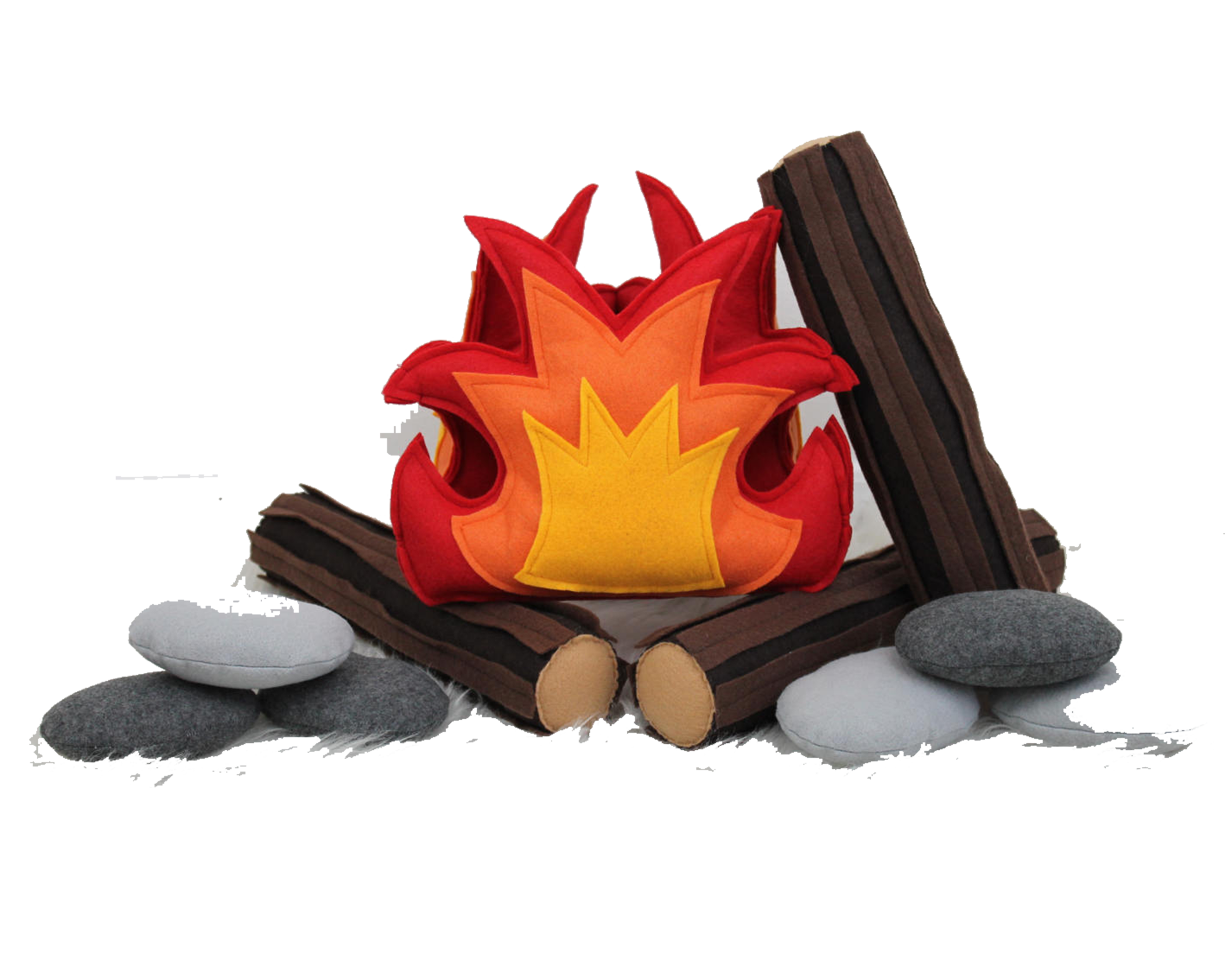 faux fire felt cushions