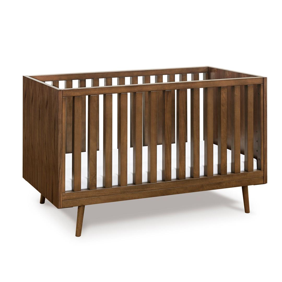dark wood modern crib
