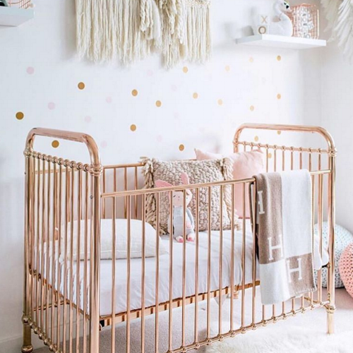 blush pink and gold nursery