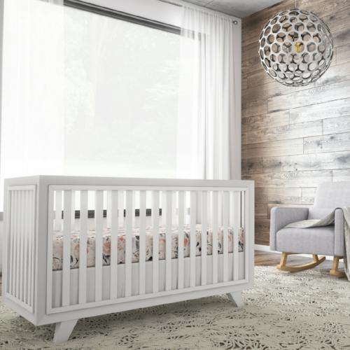modern wood panel nursery