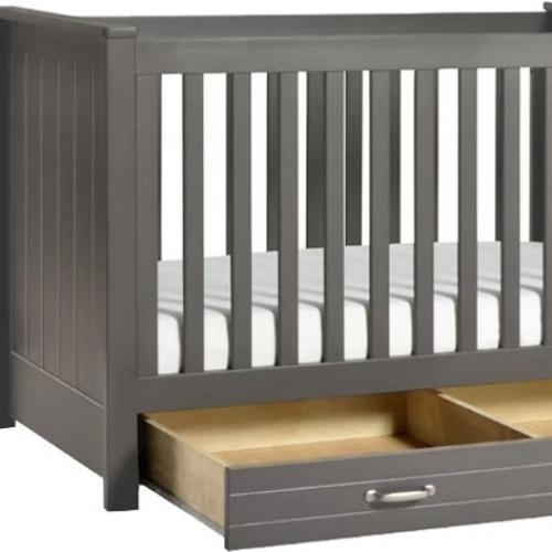 crib with storage drawer