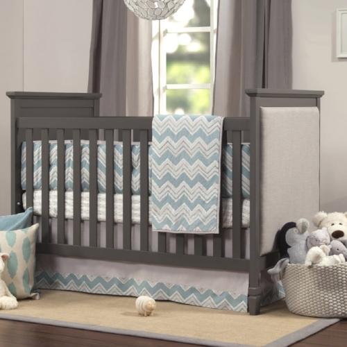 side panel upholstered crib