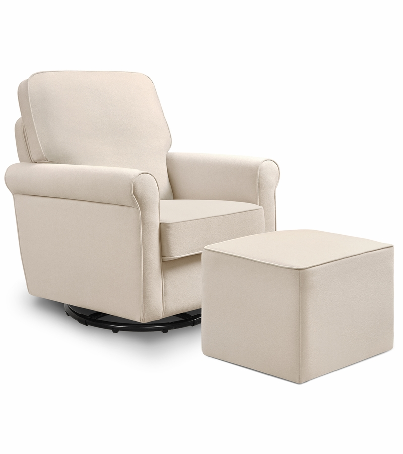cheap cream glider and ottoman