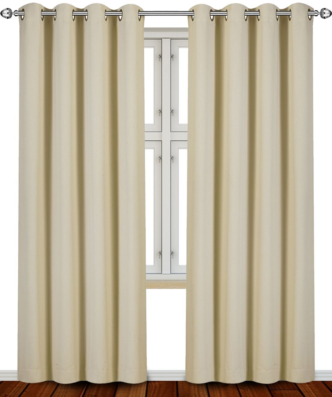 tan curtains