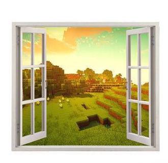 minecraft window wall decal