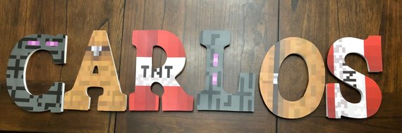 minecraft wall name letters