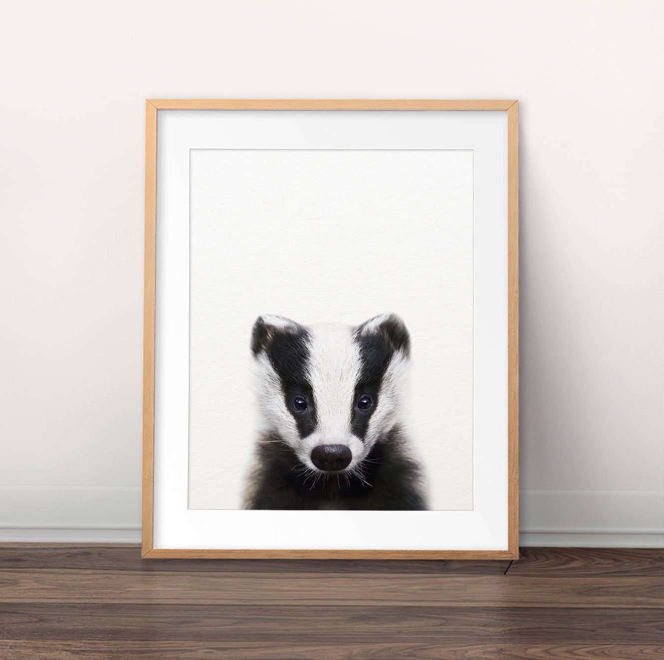 badger nursery print