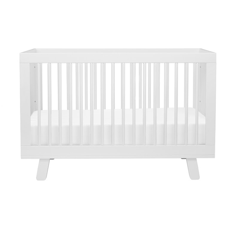 white modern hudson crib