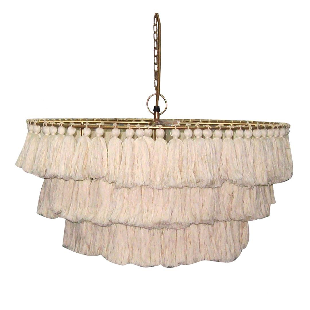 tassel fringe chandelier
