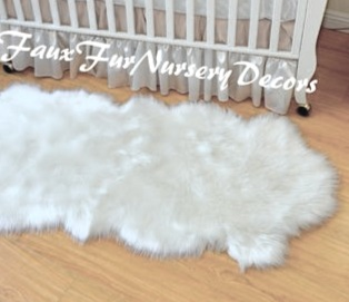 faux sheepskin nursery rug